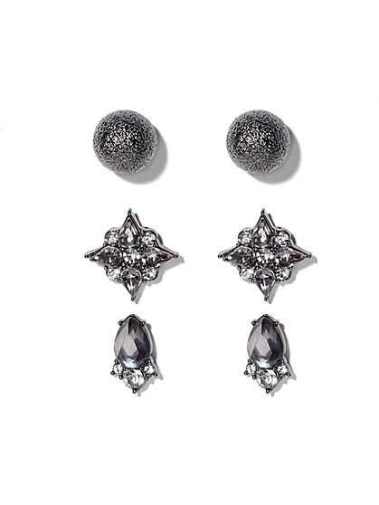 Sparkling & Textured Post Earring Set  - New York & Company