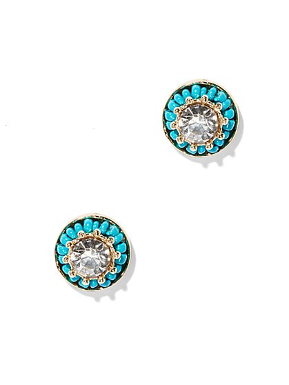 Sparkling Turquoise Earring  - New York & Company
