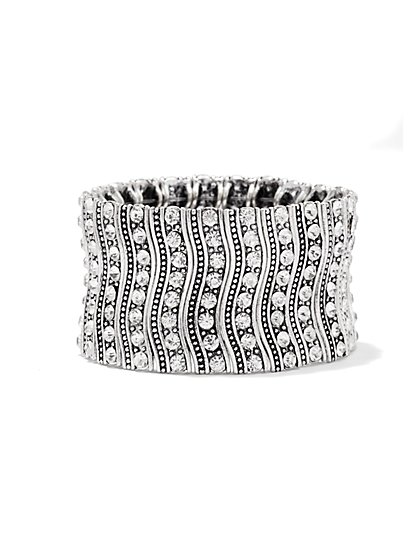 Sparkling Wavy Stretch Bracelet  - New York & Company