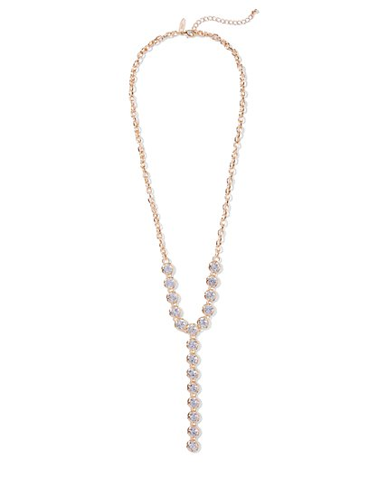 Sparkling Y Necklace  - New York & Company