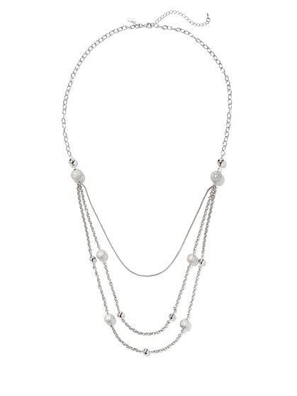 Spherical Layered Necklace  - New York & Company