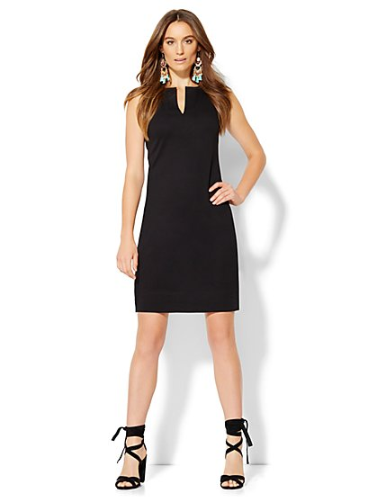 Split-Neck Tunic Dress - New York & Company