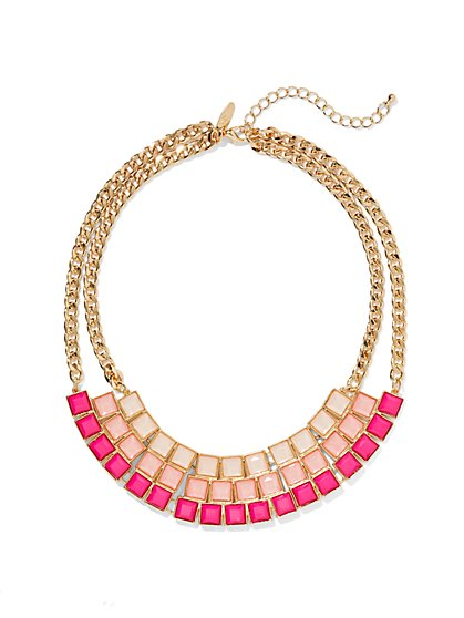 Square-Shaped Collar Necklace  - New York & Company