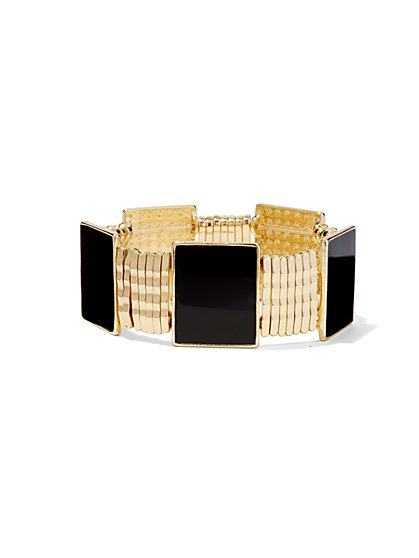Square-Shaped Stretch Bracelet  - New York & Company