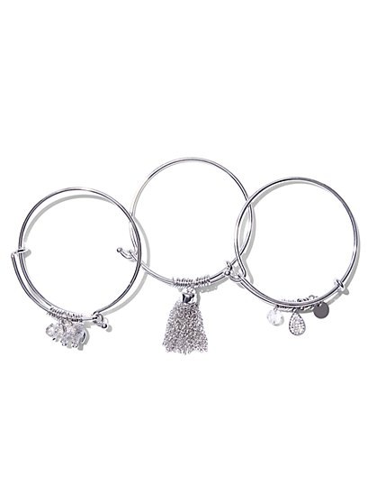 St. Jude Charm Bangle Bracelet Set  - New York & Company