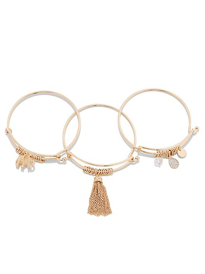St. Jude Charm Bangle Set  - New York & Company