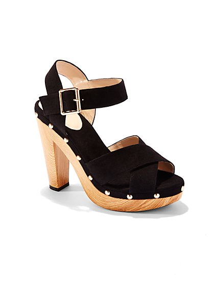 Stacked-Heel Clog Sandal - New York & Company