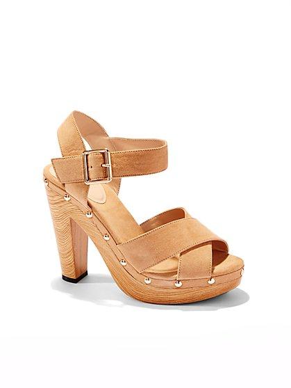 Stacked-Heel Clog Sandal - New York & Company