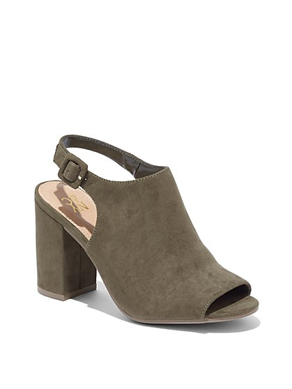 Stacked-Heel Sandal  - New York & Company