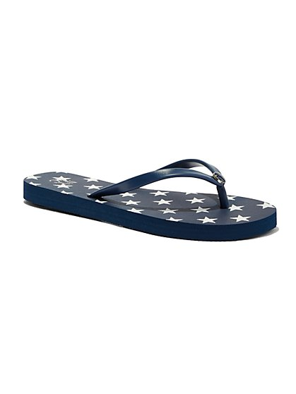 Star-Print Flip Flop  - New York & Company