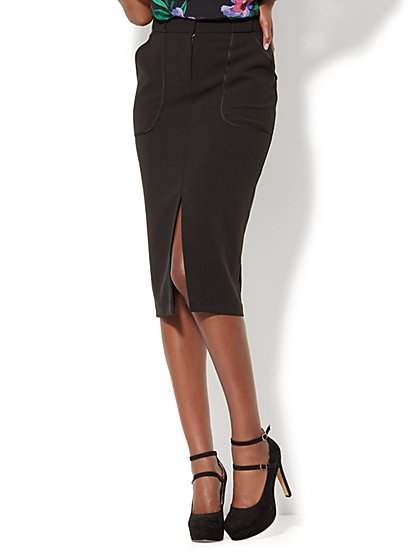 Statement Front-Slit Pencil Skirt - New York & Company