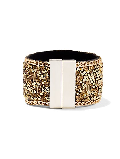 Stone Cluster Cuff Bracelet  - New York & Company