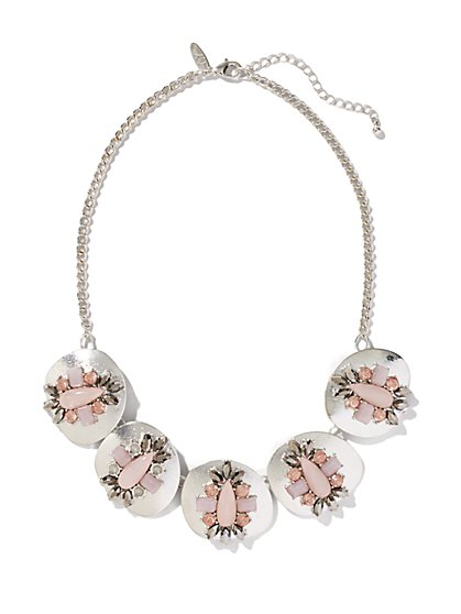 Stones & Cabochons Link Necklace - New York & Company