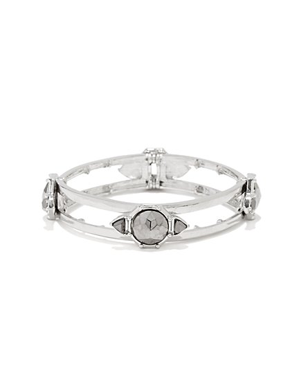 Stones Open-Design Bracelet - New York & Company