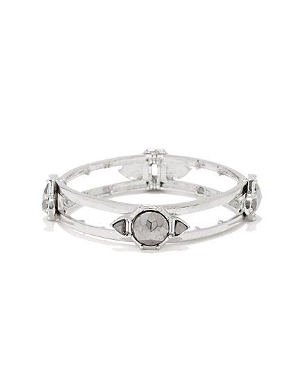 Stones Open-Design Bracelet