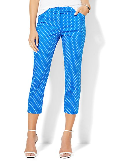 Straight-Leg Crop Pant - Polka-Dot Print  - New York & Company