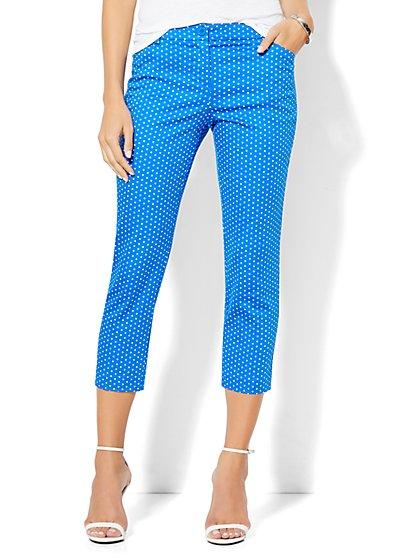 Straight-Leg Crop Pant - Polka-Dot Print  - New York & Company