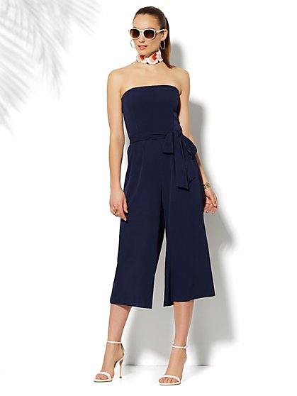 Strapless Culotte Jumpsuit - New York & Company