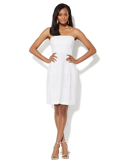 Strapless Eyelet Dress - New York & Company