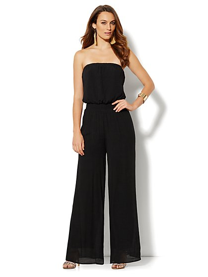 Strapless Gauze Jumpsuit  - New York & Company