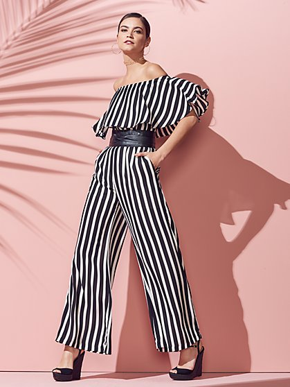 Strapless Jumpsuit - Stripe - New York & Company
