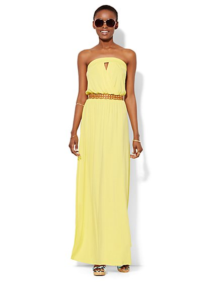 Strapless Maxi Dress - Solid - New York & Company