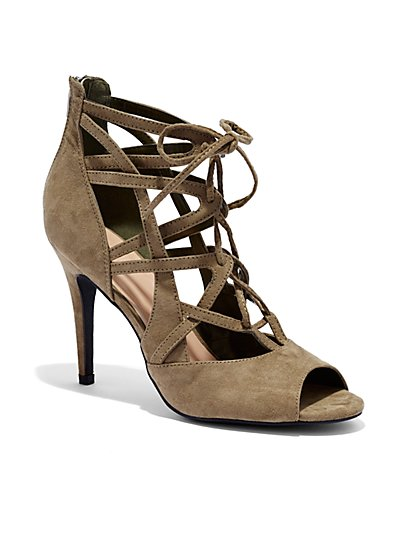Strappy High Heel Sandal  - New York & Company