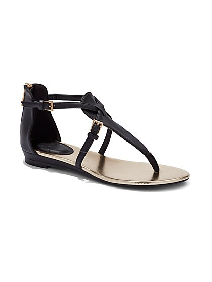 Strappy Thong Sandal - New York & Company