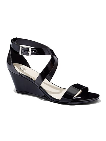 Strappy Wedge-Heel Sandal   - New York & Company