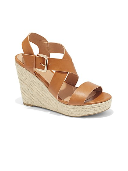 Strappy Wedge Sandal  - New York & Company