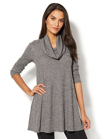 Street Wear - Cowl-Neck Tunic Sweater - New York & Company