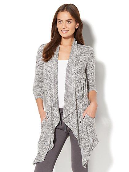 Street Wear - Draped Open-Front Cardigan - New York & Company