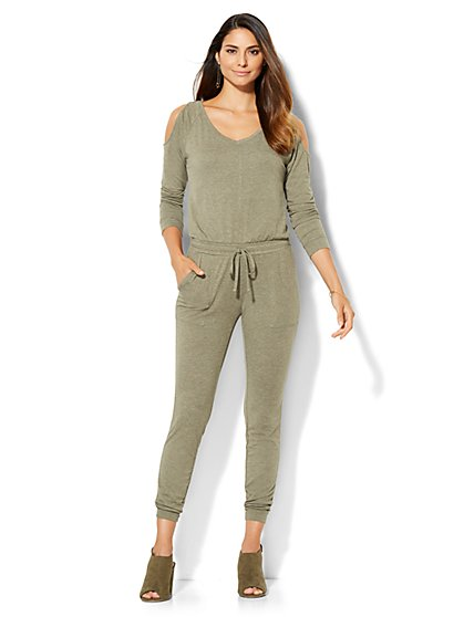 Streetwear - Cold-Shoulder Jumpsuit  - New York & Company