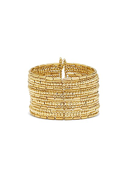Stretch Cuff Bead Bracelet - New York & Company
