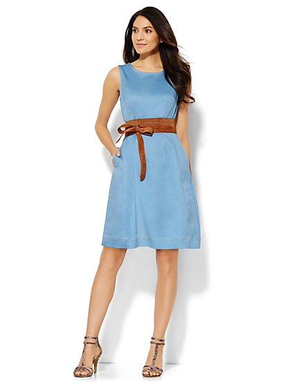 Stretch Denim Sheath Dress  - New York & Company
