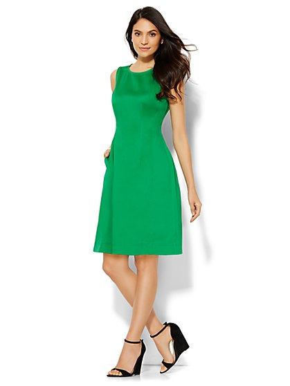 Stretch Denim Sheath Dress  - New York & Company