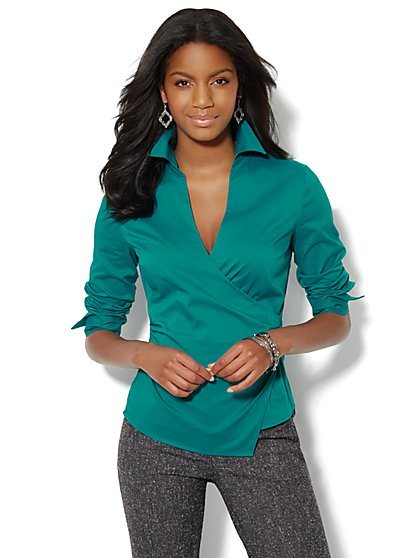 Stretch Wrap Shirt - New York & Company