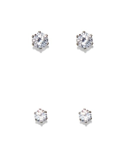 Striking Cubic Zirconia Stud Earring Set - New York & Company