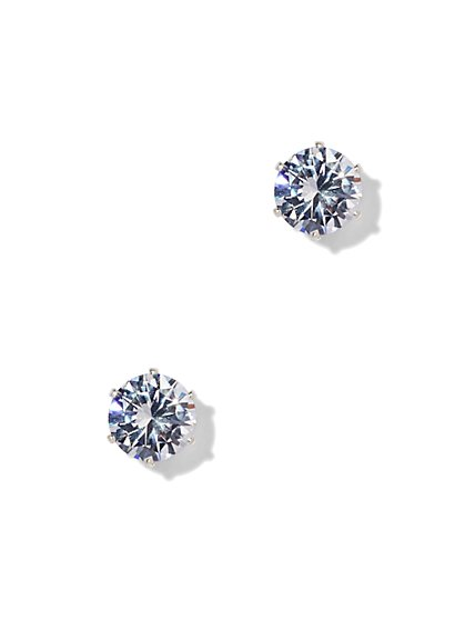 Striking Cubic Zirconia Stud Earrings