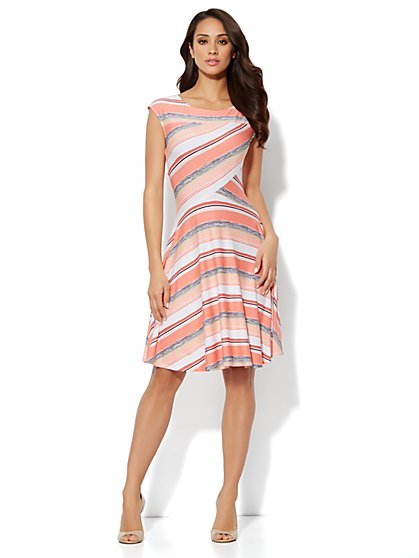 Stripe Ponte Knit Dress