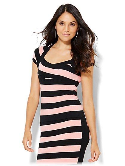 Stripe Sweater Top - New York & Company