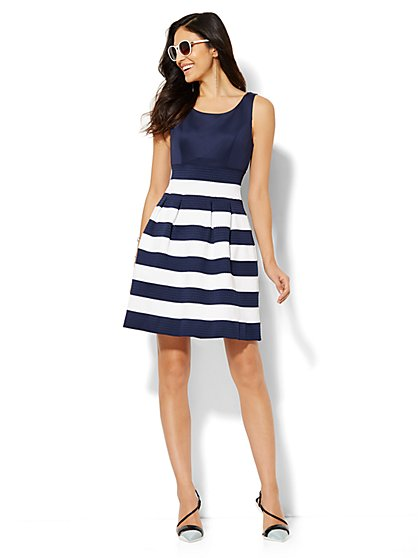 Striped Bandage Dress  - New York & Company
