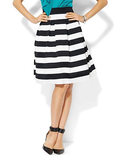 Striped Bandage Skirt  - New York & Company