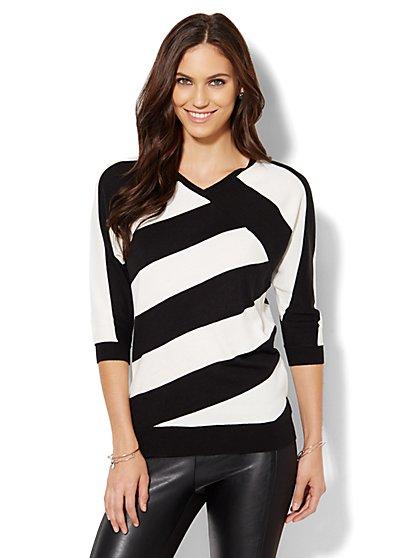 Striped Dolman Sweater  - New York & Company