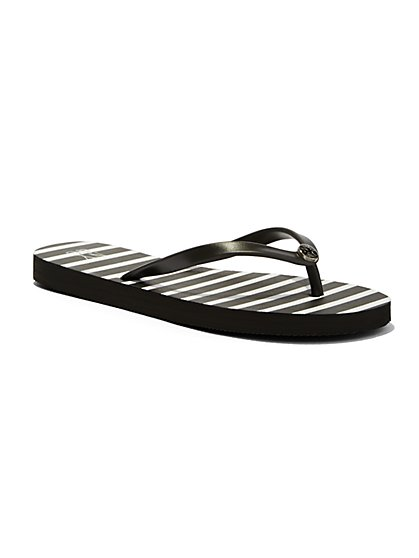 Striped Flip Flop  - New York & Company