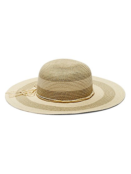 Striped Floppy Hat  - New York & Company
