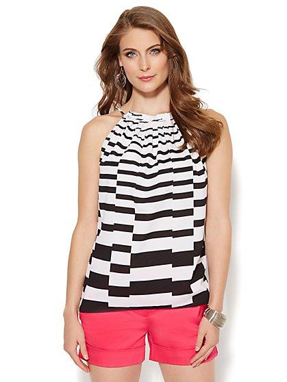 Striped Halter Top  - New York & Company