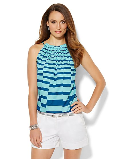 Striped Halter Top  - New York & Company