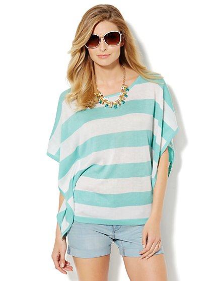 Striped Kimono Caftan - New York & Company