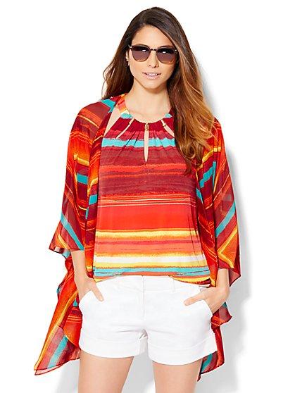 Striped Kimono  - New York & Company